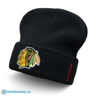 Шапка Reebok NHL Cuffed Knit Beanie Chicago Blackhawks
