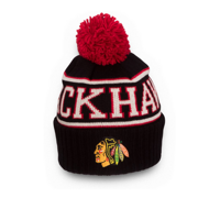 Шапка Reebok NHL Wool Bl Cuffed Pom Chicago Blackhawks