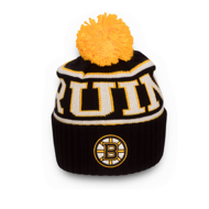 Шапка Reebok NHL Wool Bl Cuffed Pom Boston Bruins