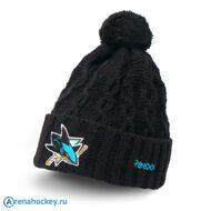 Шапка Reebok NHL Cuffed Knit Hat Pom San Jose Sharks