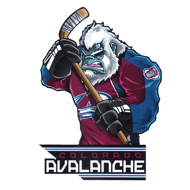 Наклейка Colorado Avalanche Mascot