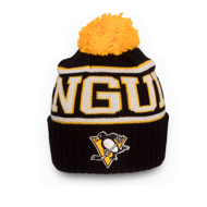 Шапка Reebok NHL Wool Bl Cuffed Pom Pittsburgh Penguins